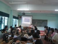 Trường THCS Kim Đồng tập huấn ƯDCNTT trong dạy học tích cực